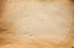 Old paper sheet. Close-up shoot of an old paper sheet Royalty Free Stock Photo