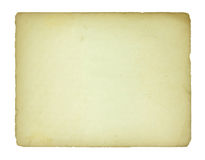 Old paper sheet isolated Royalty Free Stock Images
