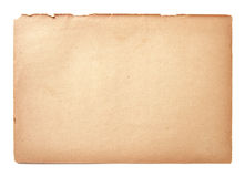 Old paper sheet isolated Royalty Free Stock Image
