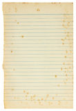Old paper sheet isolated Stock Photos