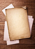 Old paper, sheet and photos Stock Image