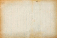 Old paper sheet with text imprint Royalty Free Stock Photography