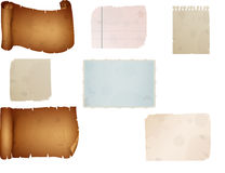 Old paper sheet, Vintage aged old paper Royalty Free Stock Image