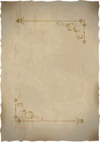 Old paper sheet  with vintage frame Stock Photos