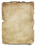 Old Paper Sheet. Old paper sheet,  on white with shadow Stock Image
