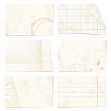 Old paper sheets Royalty Free Stock Images