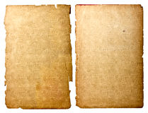 Old paper sheets Royalty Free Stock Photography
