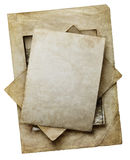 Old paper sheets  isolated on white backgroung Royalty Free Stock Image