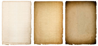 Old paper sheets texture with dark edges. Vintage background Royalty Free Stock Images