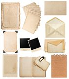 Old paper sheets Vintage photo album book page card frame royalty free stock image