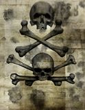 Old paper with skull Stock Photos