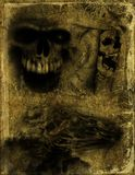Old paper with skull Royalty Free Stock Photo