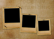 Old paper slides for photos on  abstract background Stock Image