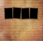 Old paper slides for photos on abstract background Stock Photography