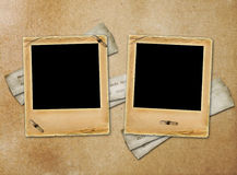 Old paper slides for photos on rusty  background Royalty Free Stock Photography