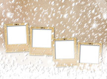 Old paper slides on snow abstract  background Stock Photography