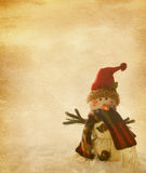 Old   paper with  snowmen Royalty Free Stock Photos