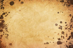 Old paper with stains Royalty Free Stock Images
