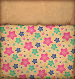 Old paper with stars Stock Images