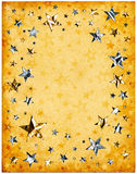 Old Paper and Stars Royalty Free Stock Photos