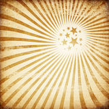 Old paper with sunburst image. Royalty Free Stock Photo