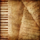 Old Paper Texture. Old Paper. Retro Music Texture Background. Vector Stock Photos