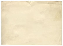 Old paper texture. Blank old paper texture isolated on white background stock photo
