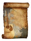 Old Paper Texture. Scroll of Old Paper. Music Texture Background. Computer Graphics royalty free illustration