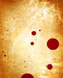 Old paper texture. With blood splatter on it Royalty Free Stock Images