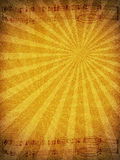 Old Paper Texture Background with Music Staff. A texture image of old paper cardboard with like sun rays nad musical notation staff royalty free stock image