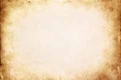 Old paper texture 2. Old brown paper texture with vignette royalty free stock photography