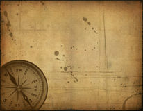 Old paper texture and compass Stock Photography