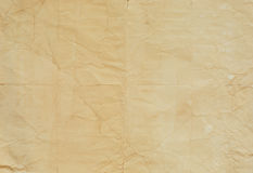 Old paper texture with crease lines stock images