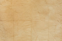 Old paper texture with crease lines Royalty Free Stock Image