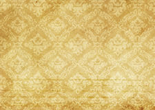 Old paper texture with decorative old-fashioned patterns. Royalty Free Stock Photos