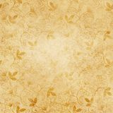 Old paper texture with floral patterns for background. Royalty Free Stock Photos