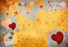 Old Paper Texture and hearts Stock Photo