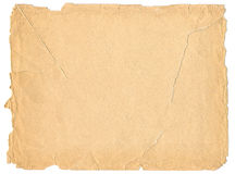 Old paper texture. Isolated on white background Stock Photos