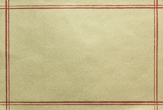 Old paper texture with red line, abstract Background Royalty Free Stock Image
