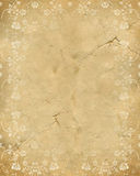 Old paper texture with rose pattern stock illustration