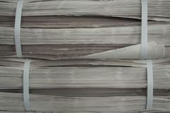 Old paper texture. Side view Royalty Free Stock Image