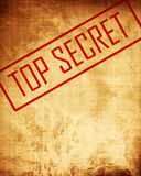 Old paper texture with 'top secret' Stock Image