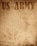 Old paper texture with 'US army' Royalty Free Stock Photo