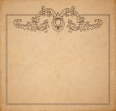 Old paper texture with vector floral frame Stock Photo