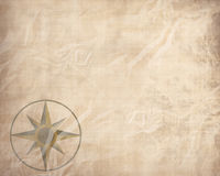 Old paper texture with windrose royalty free illustration
