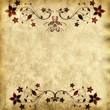 Old Paper Texture With Floral Frame Stock Images