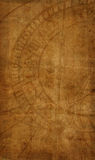Old paper texture with zodiac clock Stock Photography