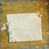 Old paper on textured background Royalty Free Stock Photos