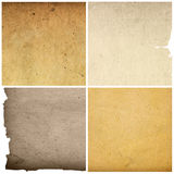 Old paper textures isolated on white Royalty Free Stock Images