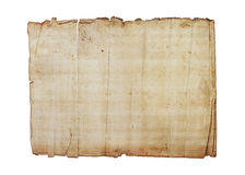 Old paper textures on white background Royalty Free Stock Images